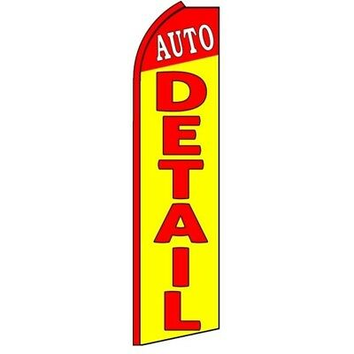 Auto Detail Swooper Half Curve Advertising Premium Wide Flag