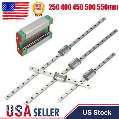 Mgn12h Linear Sliding Guide Block 250 400 450 500 550mm Cnc 3d Printer Us