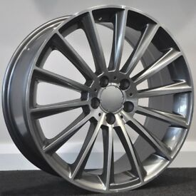 "18"" S600 GMF Alloys & Tyres. Suit Mercedes C Class, E Class, etc. 5x112"