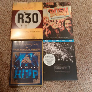 Rush & Tragically Hip DVDs (best offer)
