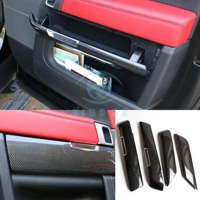 Carbon Fiber 4pcs Car Interior Door Store Content Box For Land Rover Range Rover