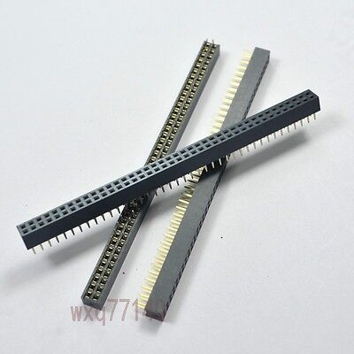 5pcs Rohs 2.0mm 2x40 Pin Header Double Row Female 80p For Dip Pcb Board Convert