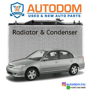 New Condenser and Radiator Honda Civic 2001-05