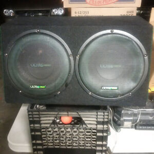 "Two 10"" subs in a box"