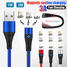 3A Magnetic Micro USB Charger Type C Charging Magnet Phone Cable for iPhone X 8