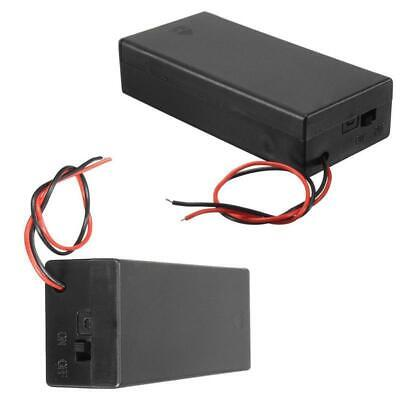 3.7V Battery Holder Case Storage Box w Wire Leads ON/OFF Switch Cover 2x 18650