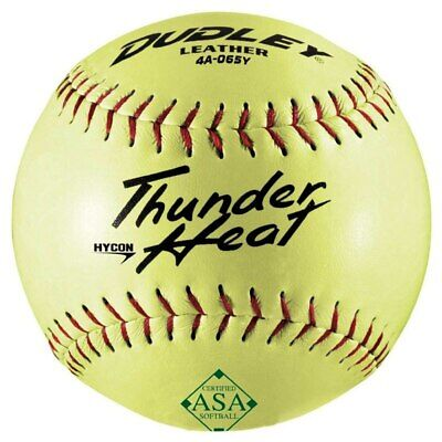 """Dudley Leather 52/300 Core 12"""" Slowpitch Softball 4A065Y"""
