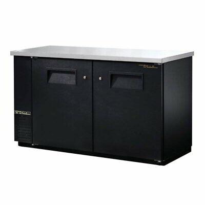 True Tbb-24-60-hc 61 18 Bar Refrigerator - 2 Swinging Solid Doors Black 115v