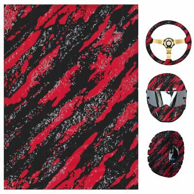 19x39 Water Transfer Print Film Us Hydrographic Red Black Marble Camo Dip Hydro
