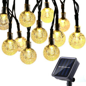 Solar String Lights Outdoor 25 ft 40 LED Crystal Waterproof