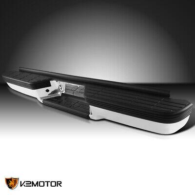 For 1988-2000 Chevy GMC C/K 1500 Fleetside Chrome Rear Bumper Step+Impact Strip