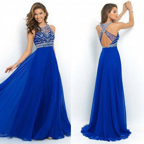Dress - Women's Long Dress Chiffon Evening Party Formal Bridesmaid Prom Ball Gown Dress