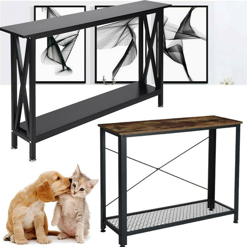 Console Table Hallway Entryway Desk End Side Stand Entry Table Sofa W/ Shelf New - $53.99