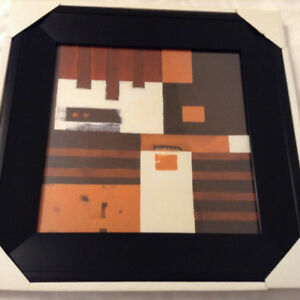"Brand New in Box - Framed ""Abstract"" Wall Art"