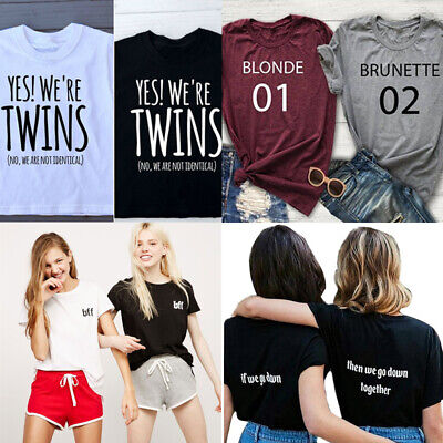 Best Friend T-shirt Brownie Blondie 01 Tee Tumblr Tops Funny Couples Shirts