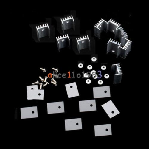 10PCS TO-220 Silver Heatsink Heat 20x15x11mm for Voltage Regulator or MOSFET