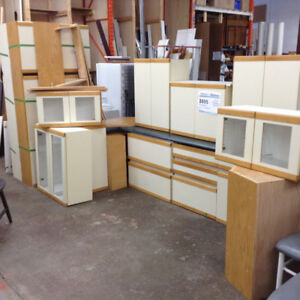 Melamine Kitchen with Glass Cabinets