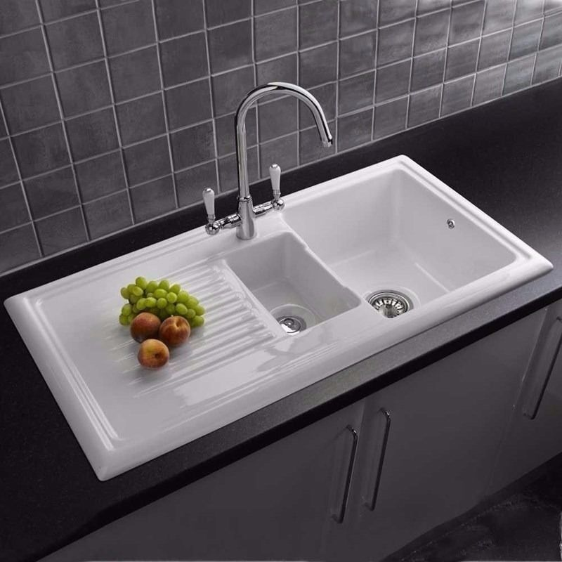 Cooke & Lewis Burbank 1.5 Bowl White Ceramic Sink | in Blackburn ...