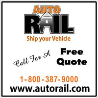 SHIP YOUR VEHICLE BY RAIL/TRUCK ACROSS CANADA AB8