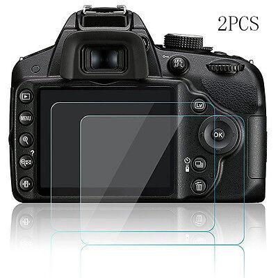 2pcs Hard Tempered Glass Screen Protector Film for Nikon D3200 D3300 D3400 Hot