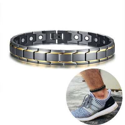 Rock Men Health Magnet Therapy Bracelet Arthritis Pain Relief Anklet Ankle Chain