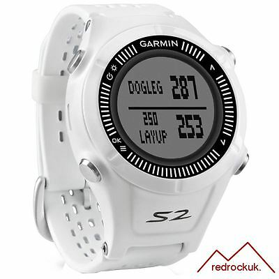 Garmin Approach S2 GPS Golf Watch with 38,000 Worldwide Courses - White & Grey