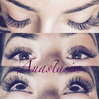 Eyelash extensions-Extension de cils.High quality