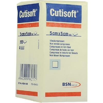 CUTISOFT Vlieskompressen 5x5cm unsteril 100 st PZN4894833