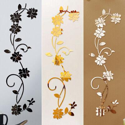 3d Specchio Fiore Adesivi Acrylic Murali Artistici Rimovibile Decal Casa Decor