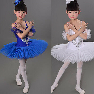 Children's Swan Costume Kids Ballet Dance Costume Stage Professional Tutu Dress
