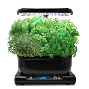 AeroGarden Harvest with Gourmet Herb Seed Pod Kit, Black  NEW