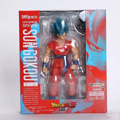 S.H.Figuarts Dragon Ball Z Super Son Gokou Blue Hair Saiyan Action Figure Toy
