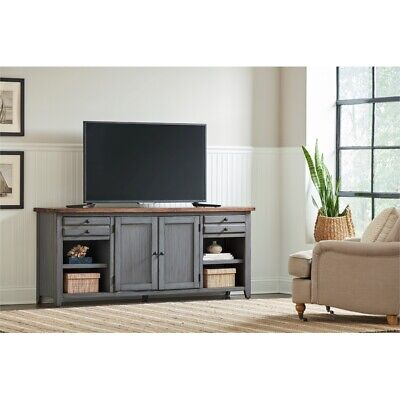 72 tv console entertainment stand wood accent