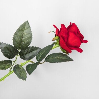Single Artificial Flower Fake Rose for Valentine's Day Gift Wedding -