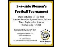 5-a-side women's/ladies football tournament
