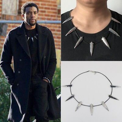 For Black Panther Necklace Wakanda King T'Challa Cosplay Halloween Costume US (Cougar Costume Halloween)