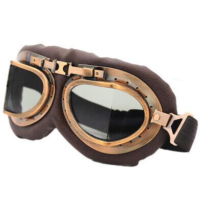 Vintage Retro Motorcycle Helmet Aviator Pilot Goggles Flying Glasses (Goggles Eyewear)