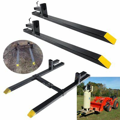 Hd 1500lbs2000lbs4000lbs Clamp On Pallet Forks Loader Bucket Skidsteer Tractor