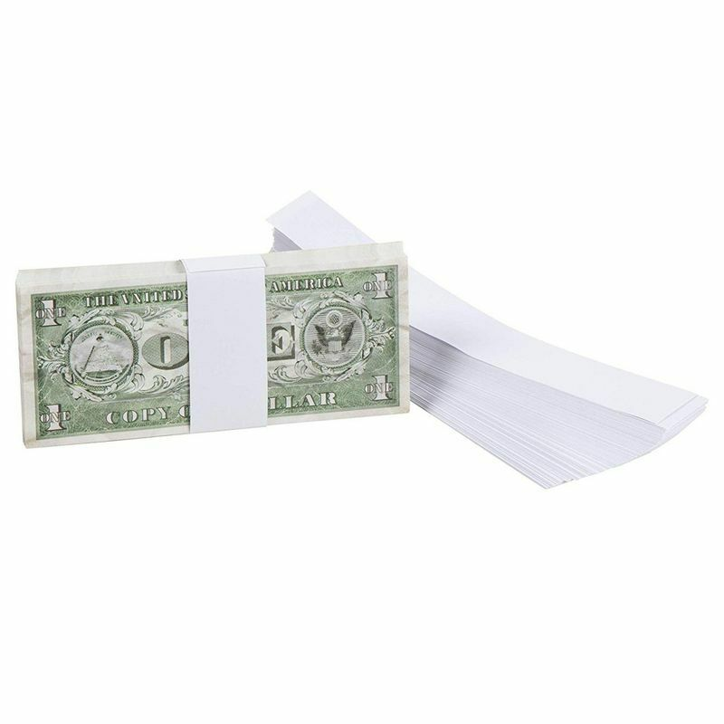 300 Blank White Paper Currency Money Band Straps No Denomination Bill Wrappers