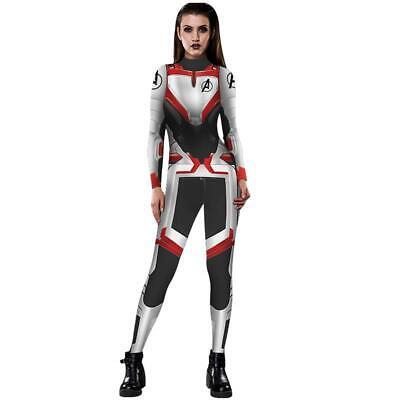 Avengers 4 Endgame Costume Quantum Battle Zentai Jumpsuit Women Cosplay Bodysuit (Avengers Costumes For Women)