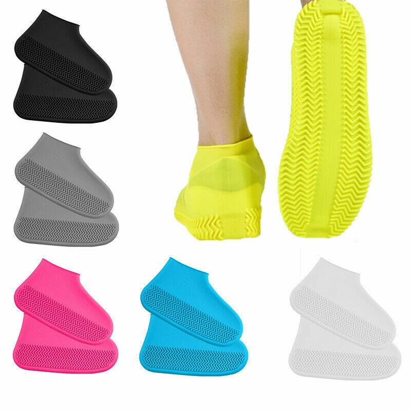 US Waterproof Shoe Covers Shoes Protector Rain Cover Kids Women Men Size S M L