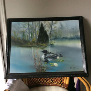 Loon oil painting