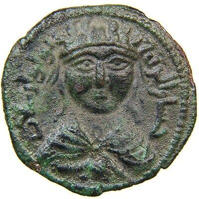 ARTUQIDS of MARDIN, Yuluq Arslan, 1184-1201, AE Dirham, Citing SALADIN, AH 581.