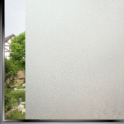 Privacy Frosted Home Glass Window Tint Adhesive Film 45x100cm Office Decorative