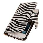 Bookwallet zebra hoes iPhone SE / 5(s)