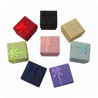 Cute Paper Cardboard Random Color Earring Necklace Ring Jewelry Boxes Gift Box Colored Jewelry Gift Box