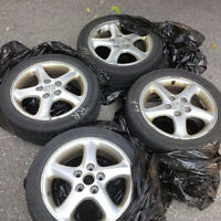 4 R16 rims with tires