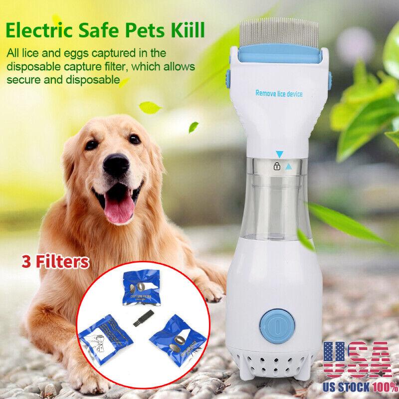 Head Vacuum Lice Comb Electric Capture Pet Flea Filter Lice Trap Treatment Tool