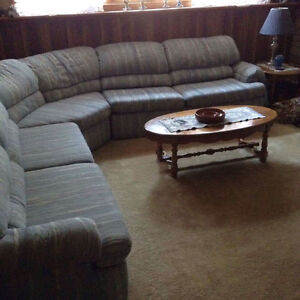 Blue 3 piece sectional