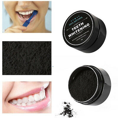 30g Whitening Powder Organic Activated Charcoal Bamboo Natural Teeth Whitener